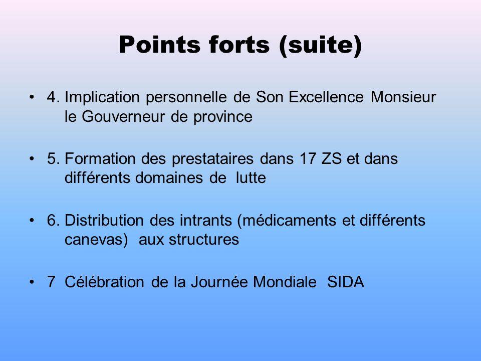 III. EVALUATION DU P.A.2005 A. Points Forts 1. Renforcement de la capacité de coordination du BPC surtout avec lappui CTB/PNLS 2. Augmentation de la c