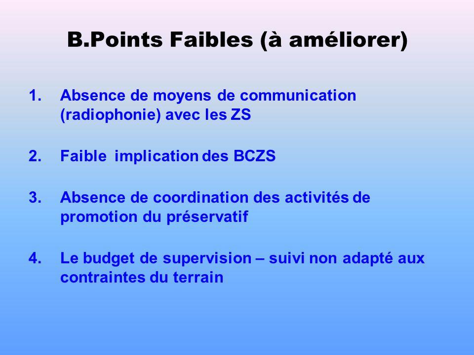 Points forts (suite) 4. Implication personnelle de Son Excellence Monsieur le Gouverneur de province 5. Formation des prestataires dans 17 ZS et dans