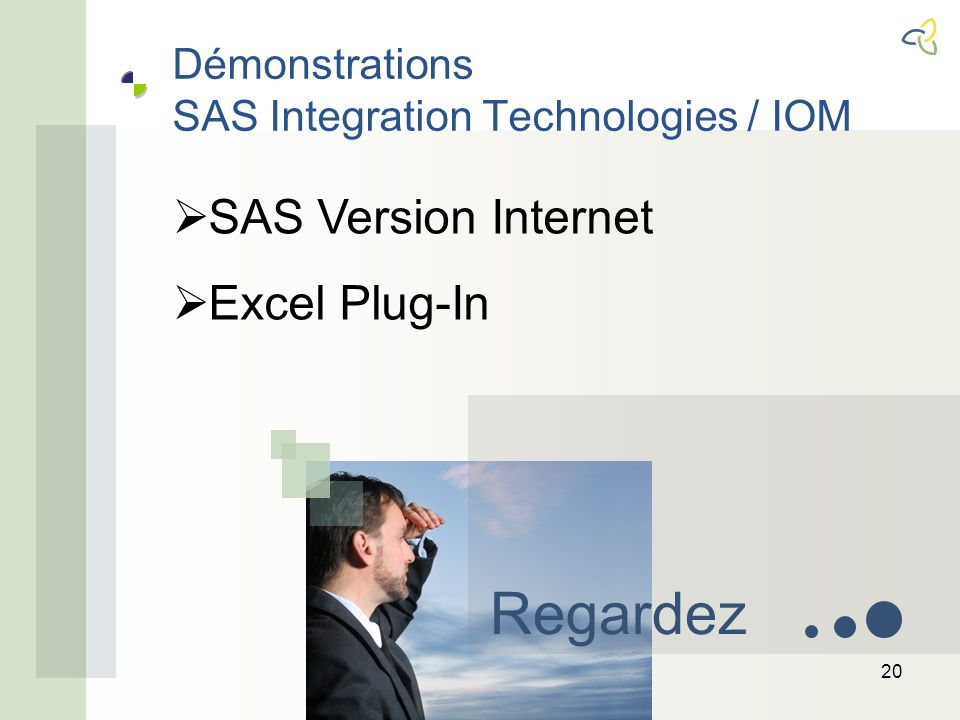 Démonstrations SAS Integration Technologies / IOM 20 Regardez SAS Version Internet Excel Plug-In