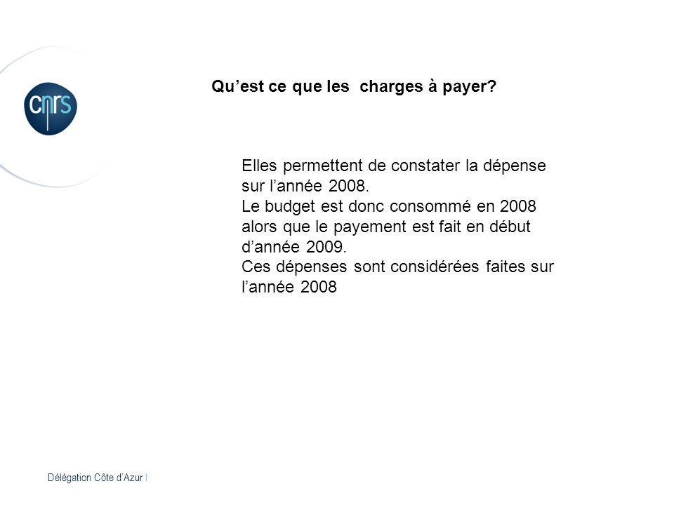 Délégation Côte dAzur l Quest ce que les charges à payer.