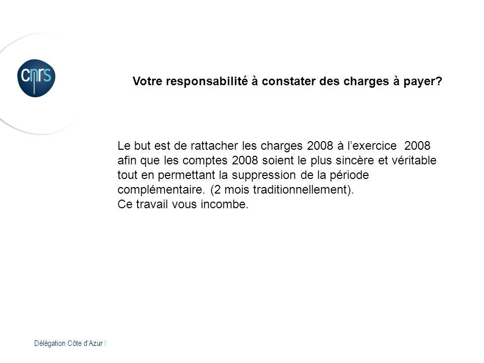 Délégation Côte dAzur l Votre responsabilité à constater des charges à payer.