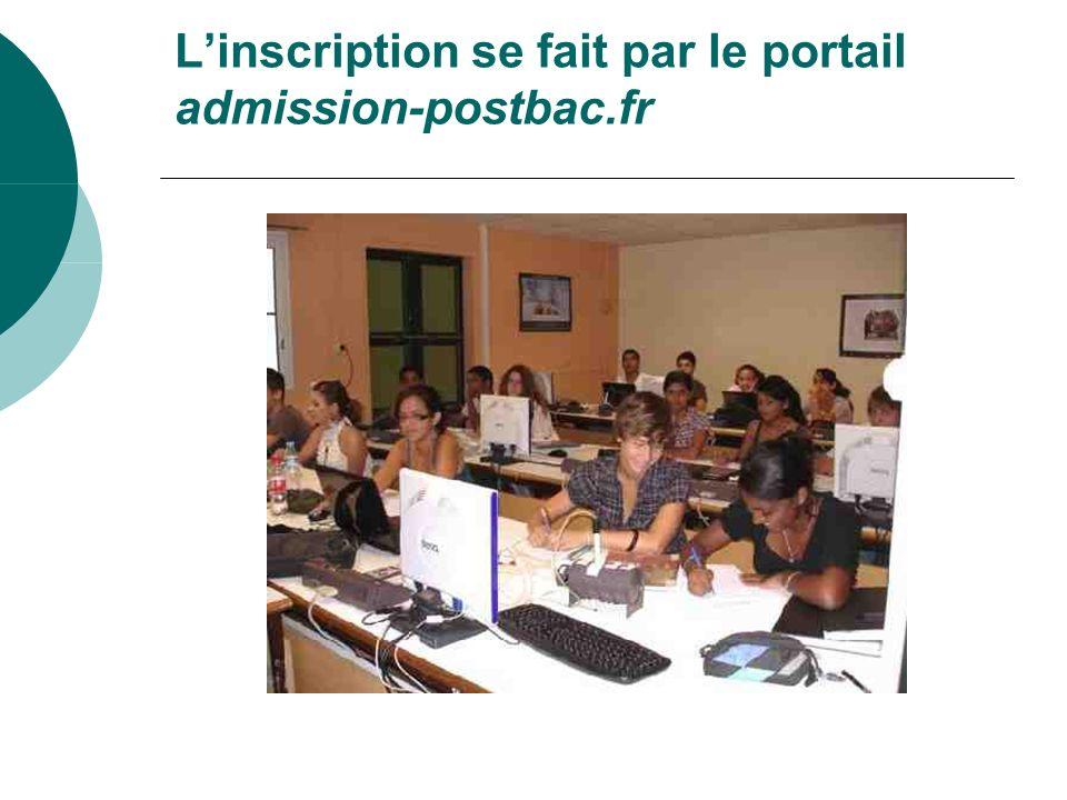 Linscription se fait par le portail admission-postbac.fr