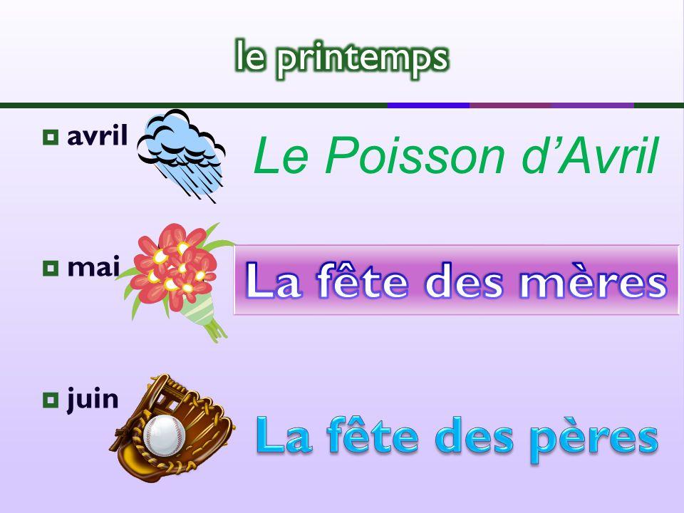 avril mai juin Le Poisson dAvril