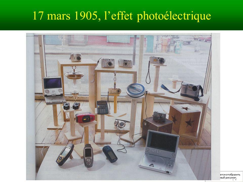 17 mars 1905, leffet photoélectrique
