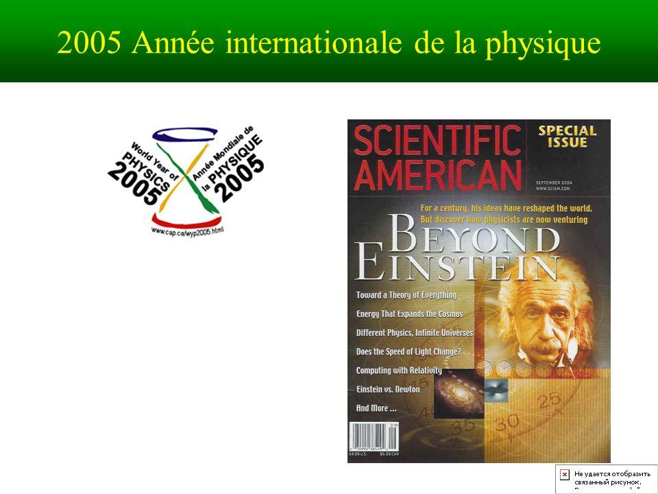 2005 Année internationale de la physique