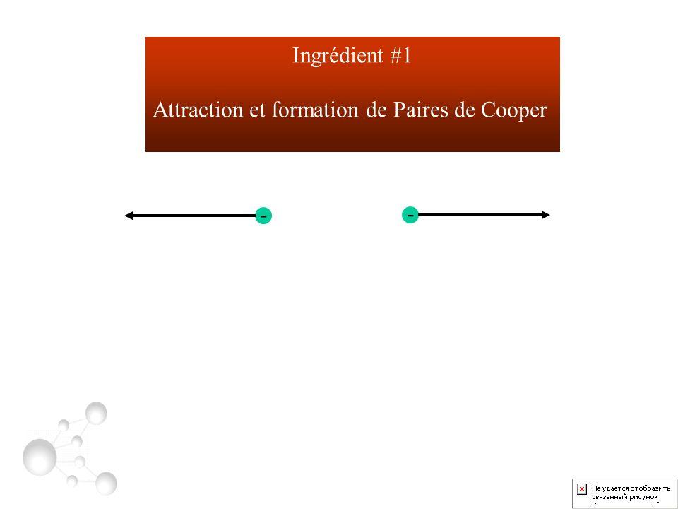 - - Ingrédient #1 Attraction et formation de Paires de Cooper