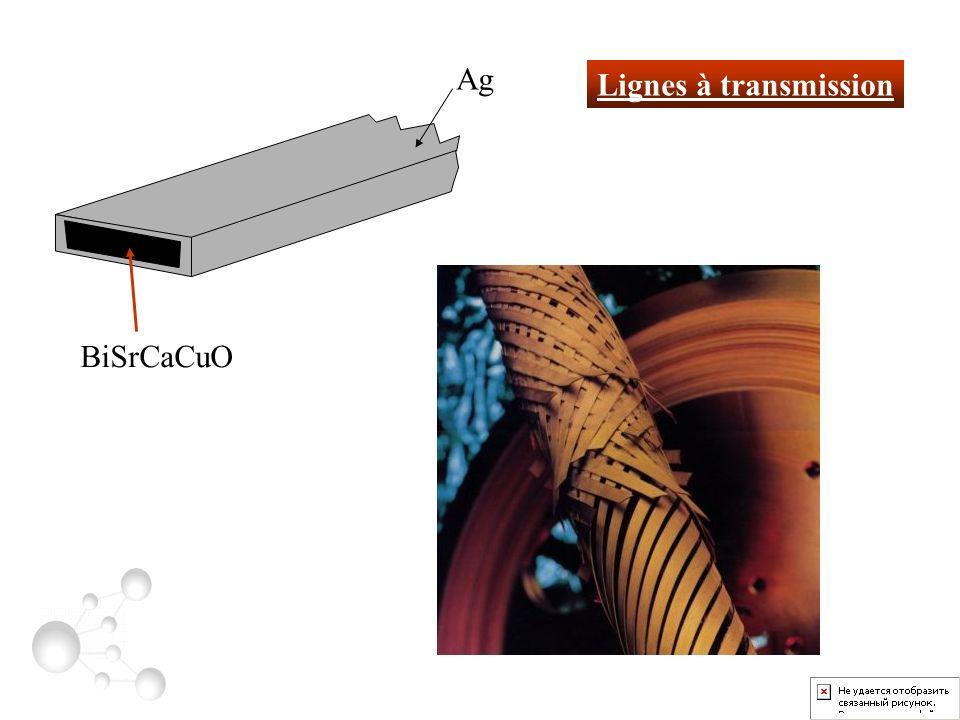 Lignes à transmission BiSrCaCuO Ag