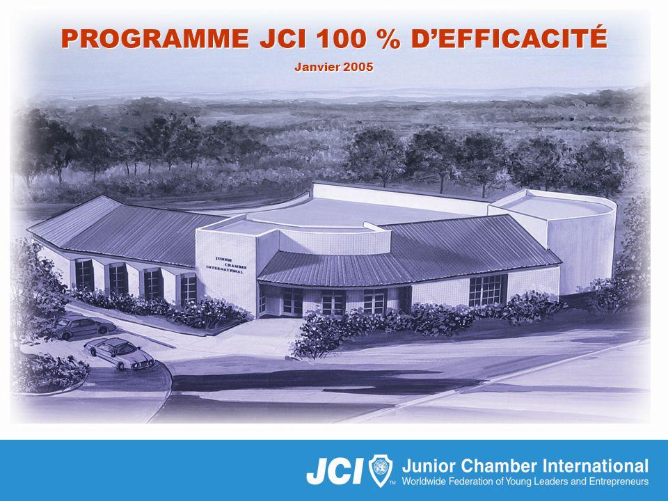 Programme JCI 100 % defficacité 01/05 PROGRAMME JCI 100 % DEFFICACITÉ Janvier 2005 PROGRAMME JCI 100 % DEFFICACITÉ Janvier 2005