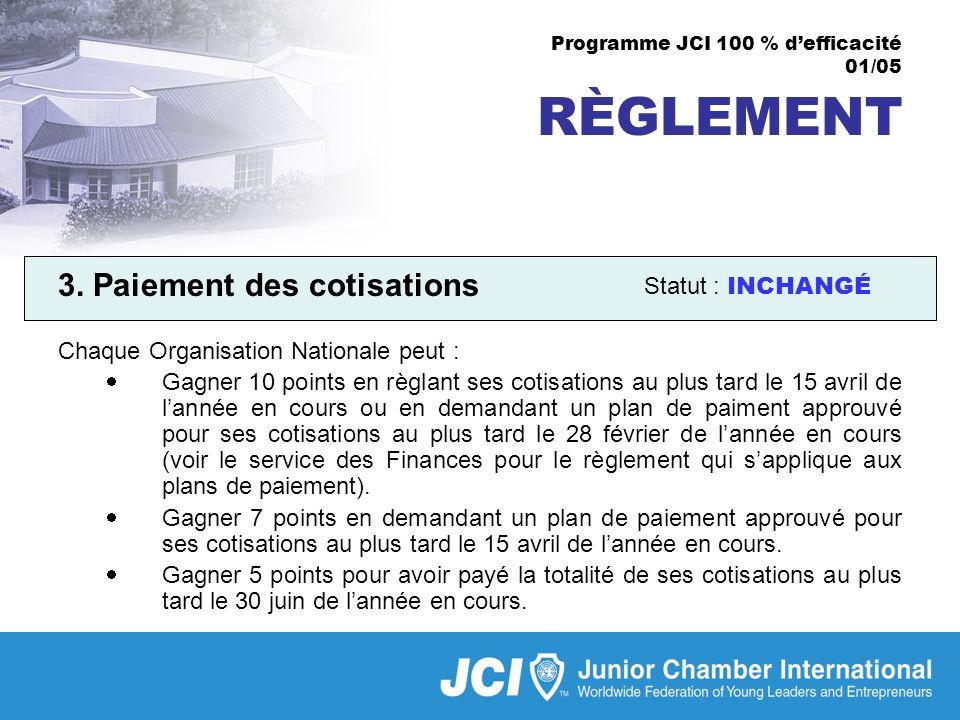 Programme JCI 100 % defficacité 01/05 RÈGLEMENT 3.