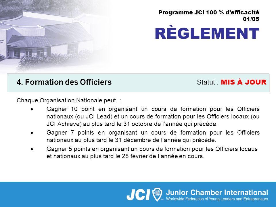 Programme JCI 100 % defficacité 01/05 RÈGLEMENT 4.
