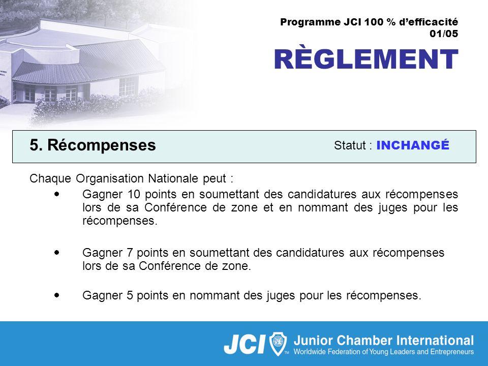 Programme JCI 100 % defficacité 01/05 RÈGLEMENT 5.