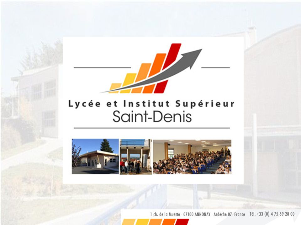 BTS Bioanalyses et Contrôles BTS BIOANALYSES ET CONTRÔLES IS2D Institut Supérieur St Denis Annonay (07)