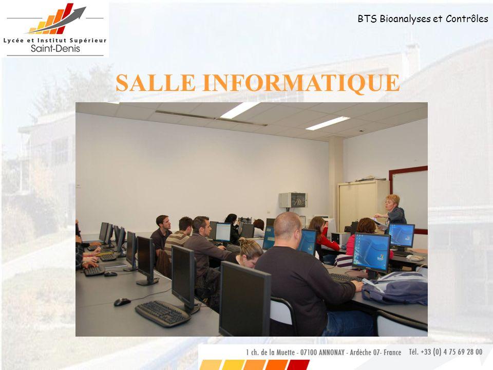 BTS Bioanalyses et Contrôles SALLE INFORMATIQUE