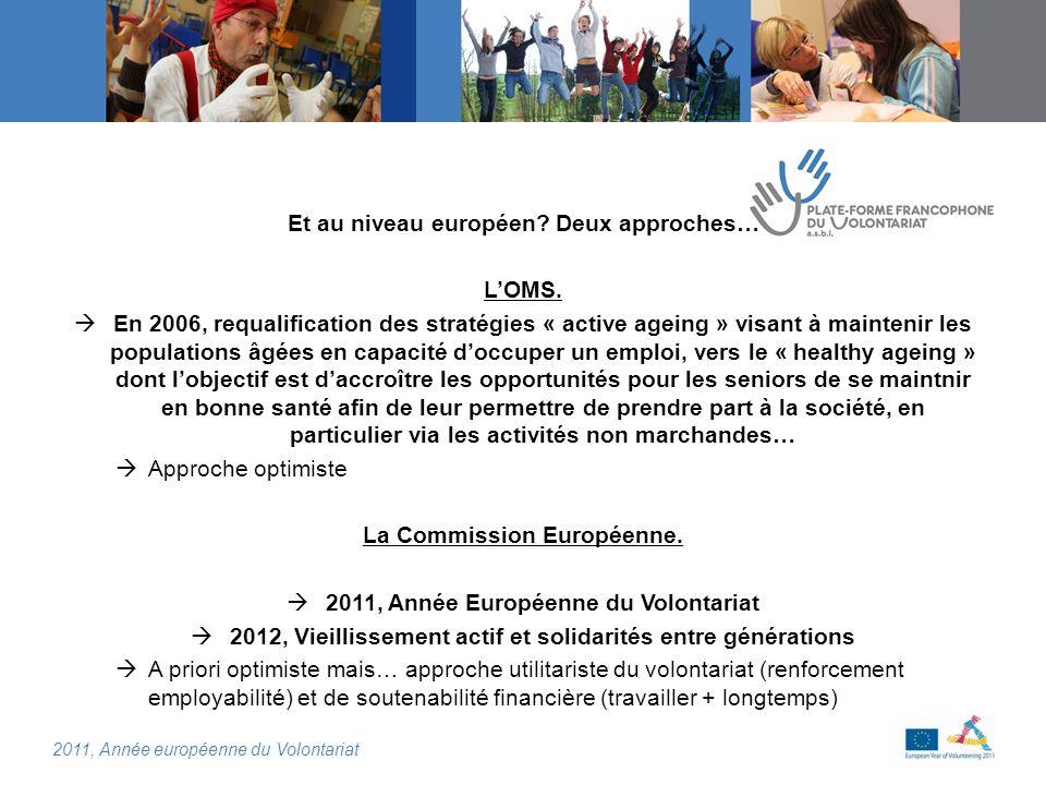 2011, Année européenne du Volontariat Et au niveau européen.