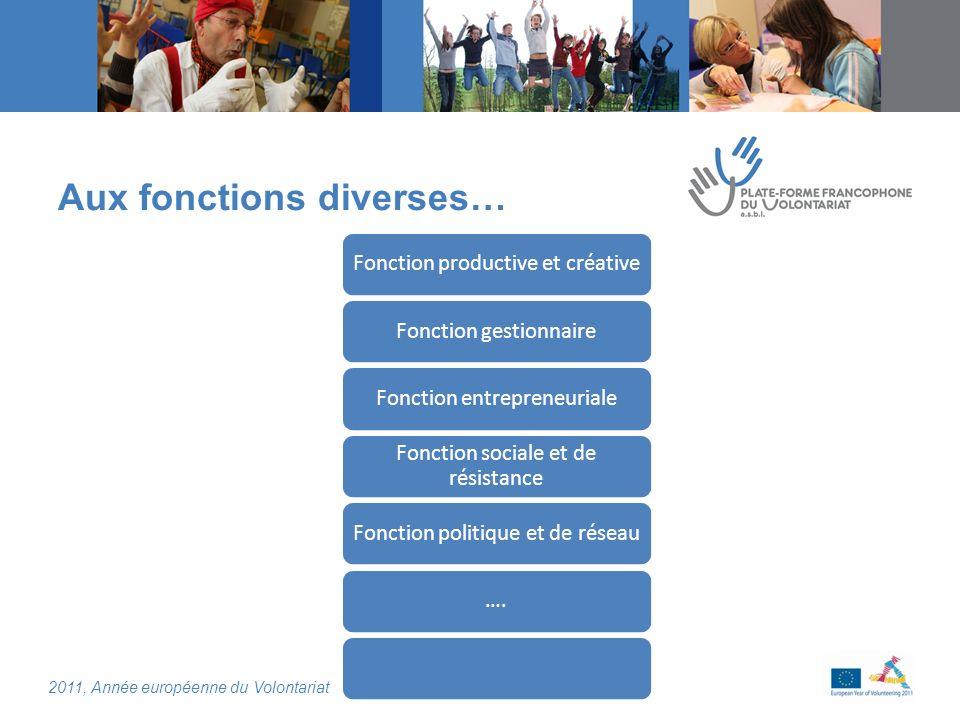 2011, Année européenne du Volontariat Focus sur la participation citoyenne des aînés.