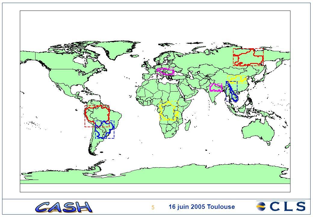 16 16 juin 2005 Toulouse Analyse du retracking: année 1998 Amazone: Manaus
