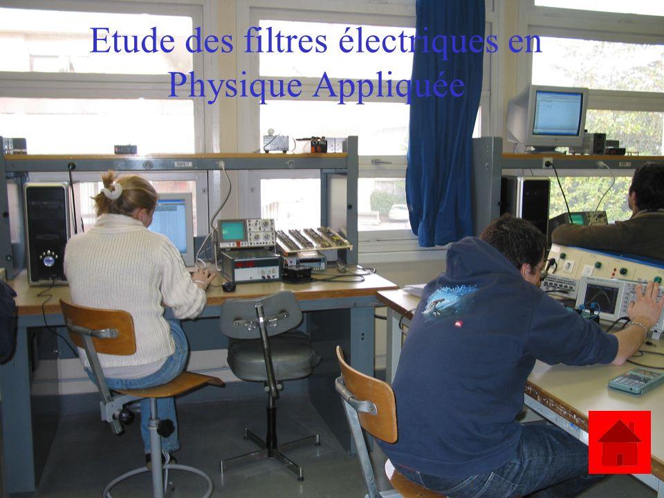 Etude des filtres électriques en Physique Appliquée