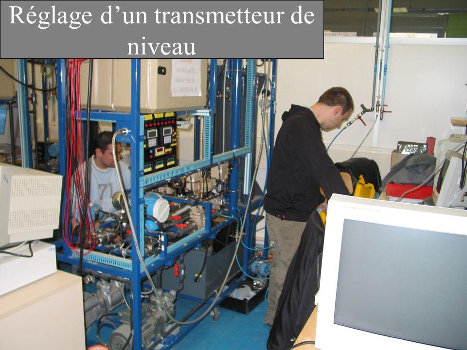 Réglage dun transmetteur de niveau