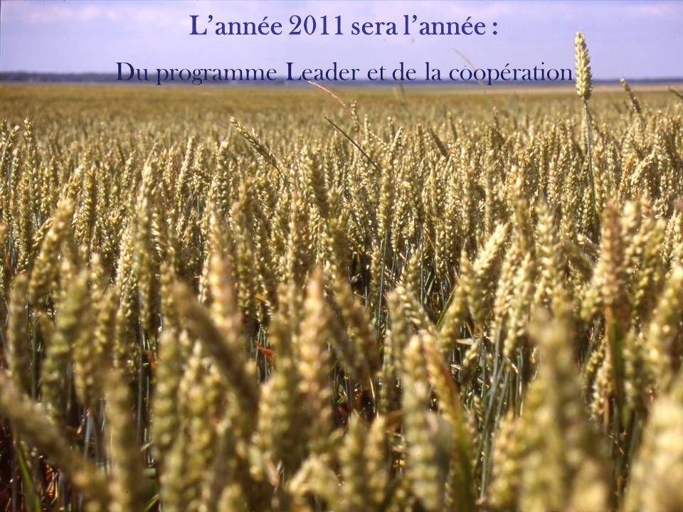 Lannée 2011 sera lannée : Du 3 ème Contrat Régional de Pays