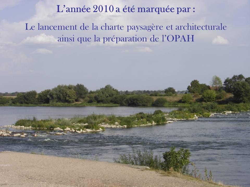 Lannée 2010 a été marquée par : Le lancement de la charte paysagère et architecturale ainsi que la préparation de lOPAH