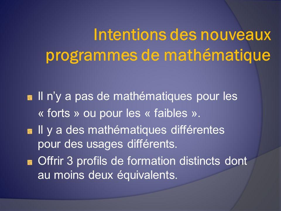 La séquence SN Différents champs de la mathématique sont étudiés Algèbre Géométrie Statistique
