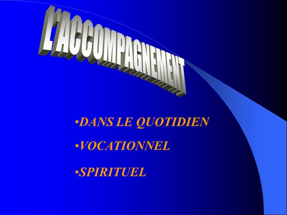 DANS LE QUOTIDIEN VOCATIONNEL SPIRITUEL