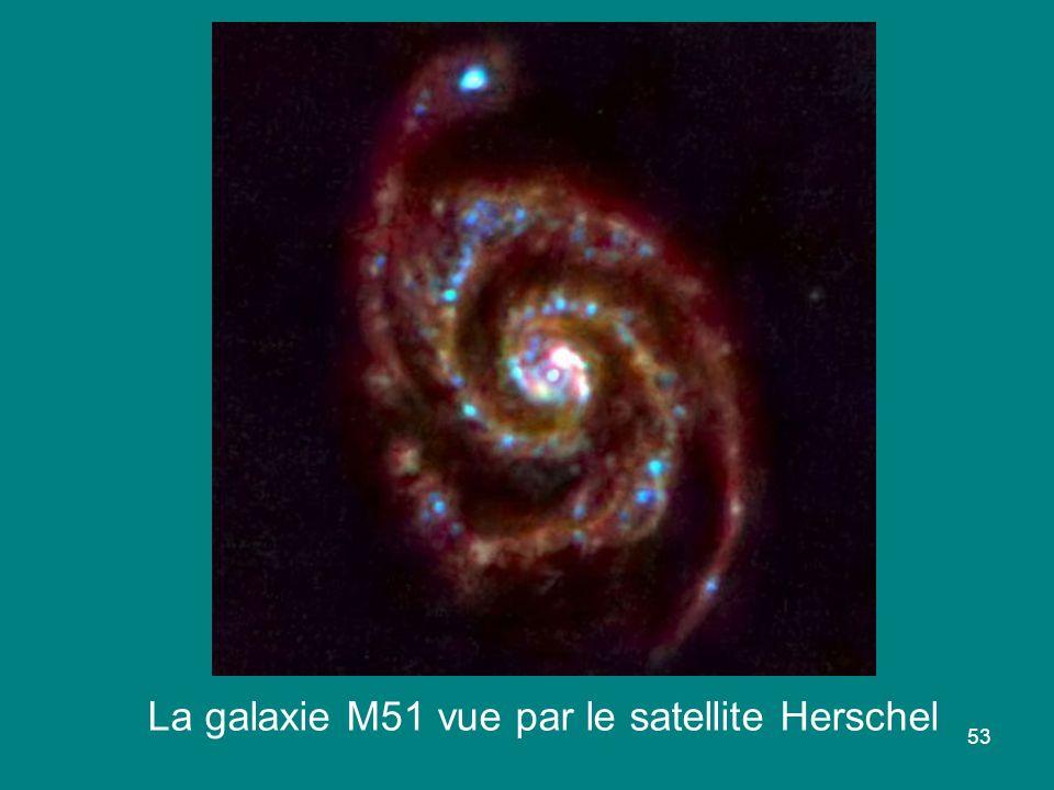 53 La galaxie M51 vue par le satellite Herschel