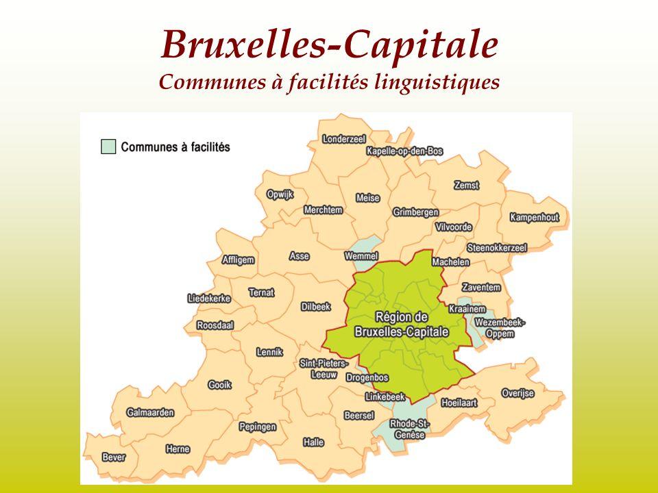 Bruxelles-Capitale Communes à facilités linguistiques
