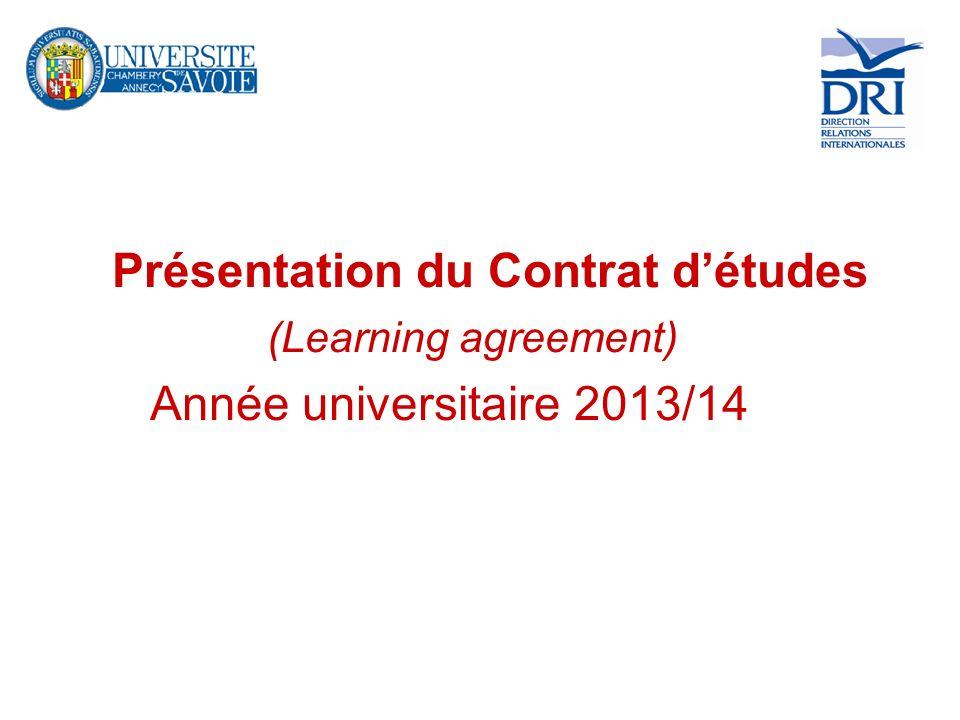 Vous allez faire un séjour détudes dans le cadre dun programme déchange en 2013/14 : - Erasmus - Conventions bilatérales - Programmes spécifiques : ORA – CREPUQ - ISEP