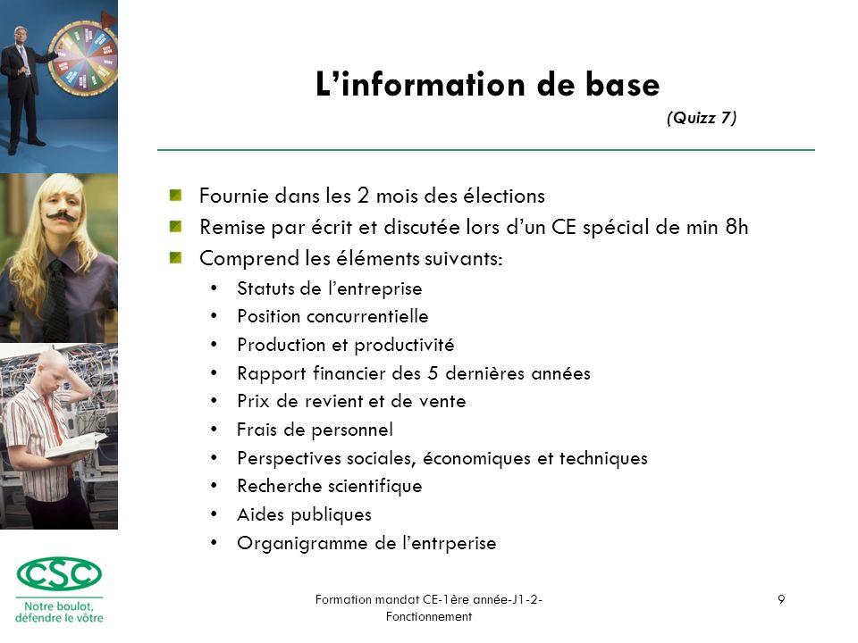 Formation mandat CE-1ère année-J1-2- Fonctionnement 10 Que faire au CE.
