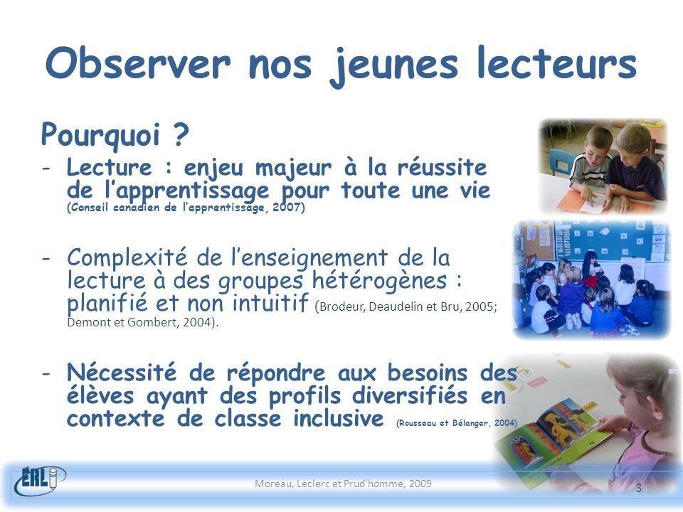 Observer nos jeunes lecteurs Pourquoi ? -Lecture : enjeu majeur à la réussite de lapprentissage pour toute une vie (Conseil canadien de lapprentissage