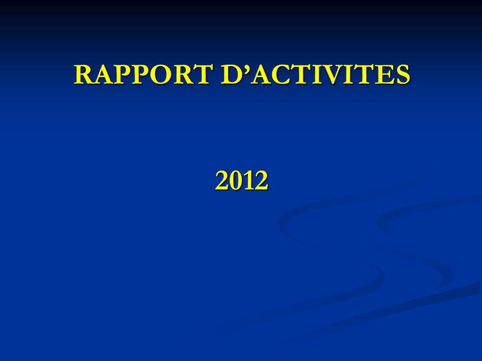 RAPPORT DACTIVITES 2012
