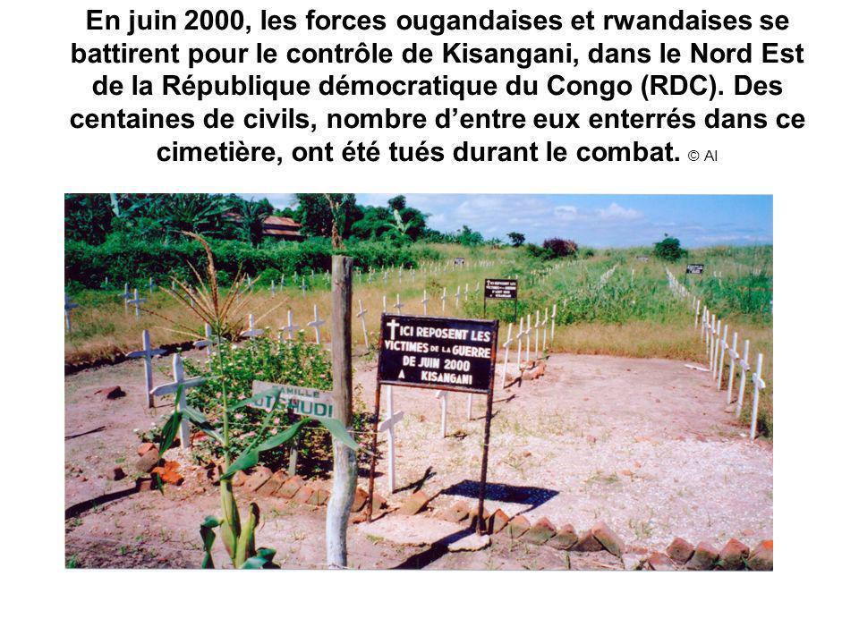 En juin 2000, les forces ougandaises et rwandaises se battirent pour le contrôle de Kisangani, dans le Nord Est de la République démocratique du Congo (RDC).