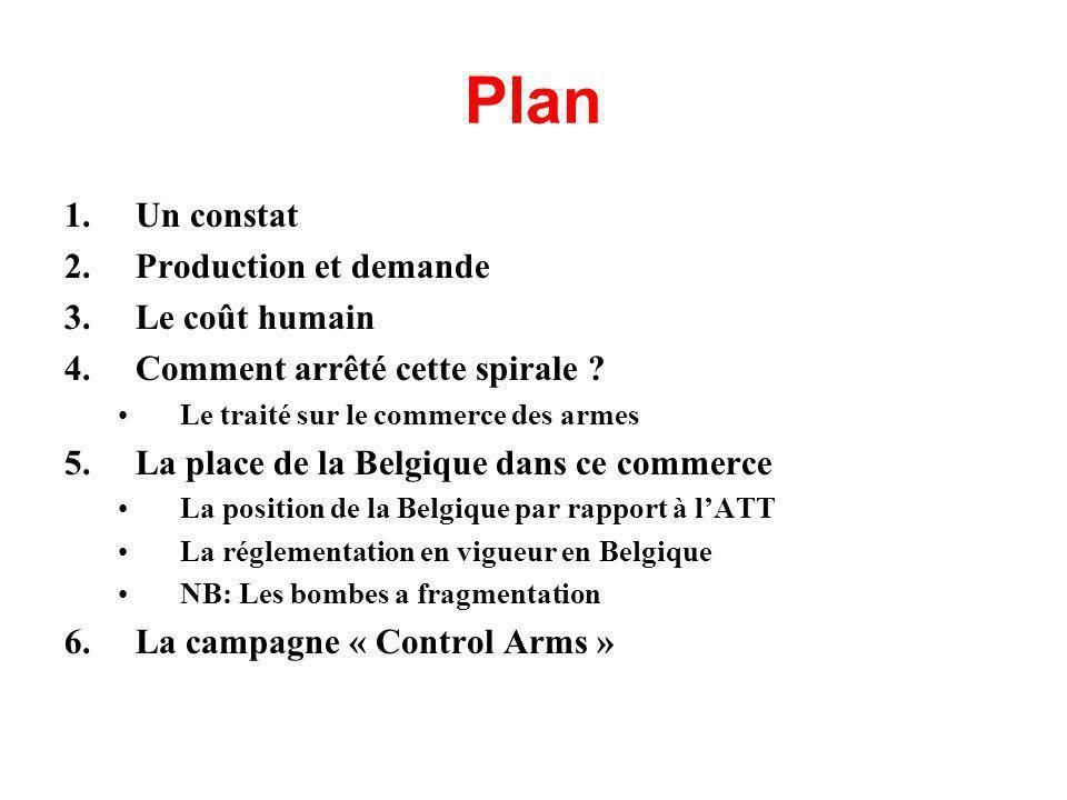 Plan 1.Un constat 2.Production et demande 3.Le coût humain 4.Comment arrêté cette spirale .