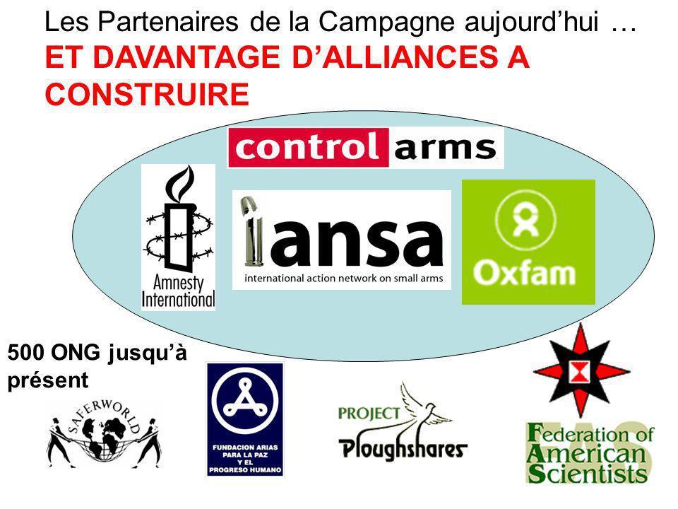 Les Partenaires de la Campagne aujourdhui … ET DAVANTAGE DALLIANCES A CONSTRUIRE 500 ONG jusquà présent