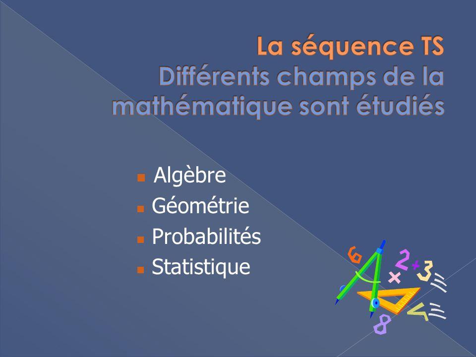 Algèbre Géométrie Probabilités Statistique
