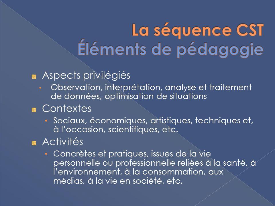 Aspects privilégiés Observation, interprétation, analyse et traitement de données, optimisation de situations Contextes Sociaux, économiques, artistiq