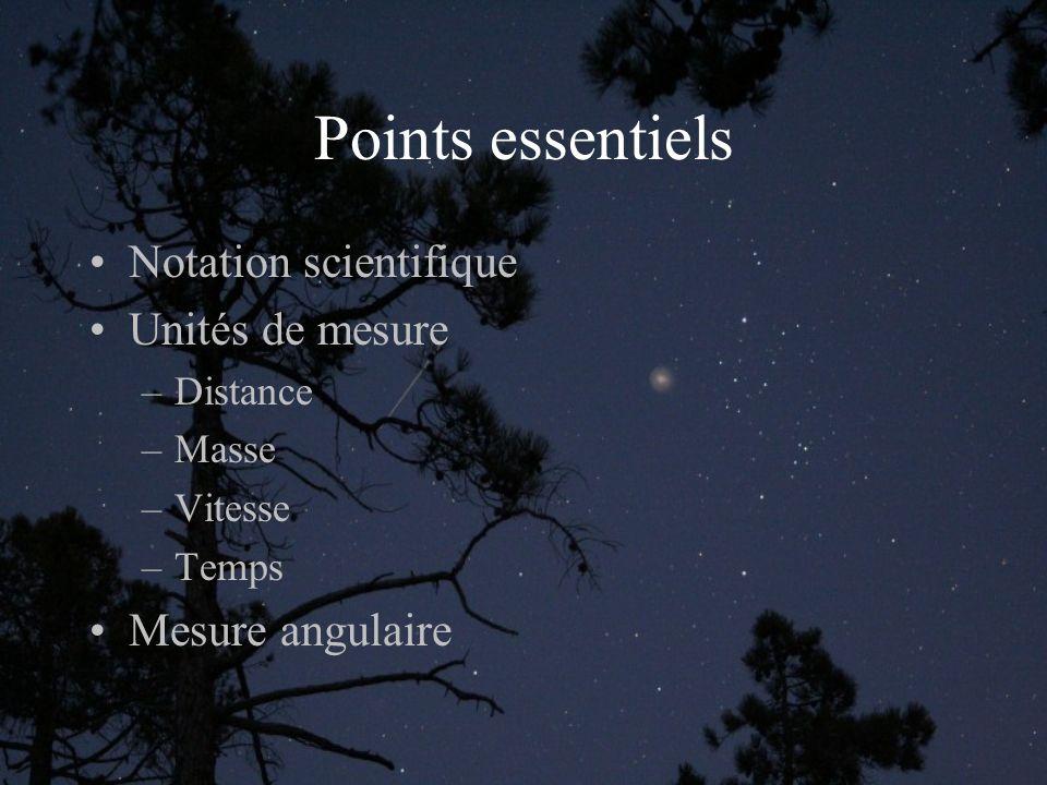 Notation scientifique Les nombres manipulés en astronomie sont souvent très longs (astronomiques) à écrire de manière habituelle.