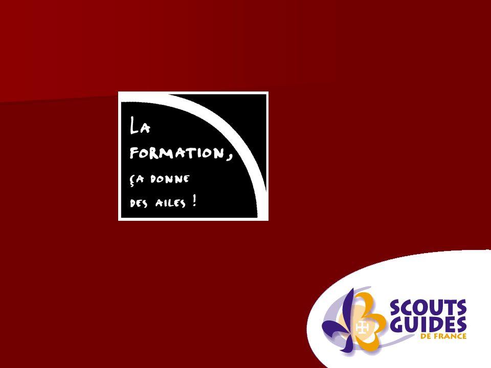 Le parcours de formation Scouts et Guides de France Module daide à la prise de fonction Module daide à la prise de fonction Stage 1 Stage 1 Stage pratique Stage pratique Stage 2 Stage 2 Formation à la direction de camp Formation à la direction de camp
