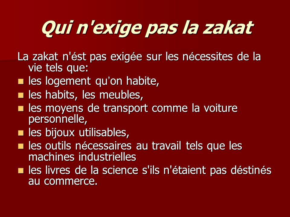 les b é n é ficiaires de la zakat Les attributaires de la Zakat, qui sont au nombre de huit, ont é t é clairement cit é s dans le Coran, sourate al-tawba, verset 60: Les attributaires de la Zakat, qui sont au nombre de huit, ont é t é clairement cit é s dans le Coran, sourate al-tawba, verset 60: « Les Sadaqâts ne sont destin é s que pour les pauvres, les indigents, ceux qui y travaillent, ceux dont les c œ urs sont à gagner ( à l Islam), l affranchissement des jougs, ceux qui sont lourdement endett é s, dans le sentier d Allah, et pour le voyageur (en d é tresse).