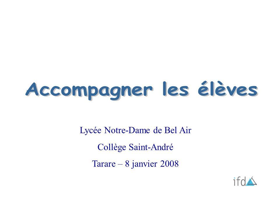 Lycée Notre-Dame de Bel Air Collège Saint-André Tarare – 8 janvier 2008