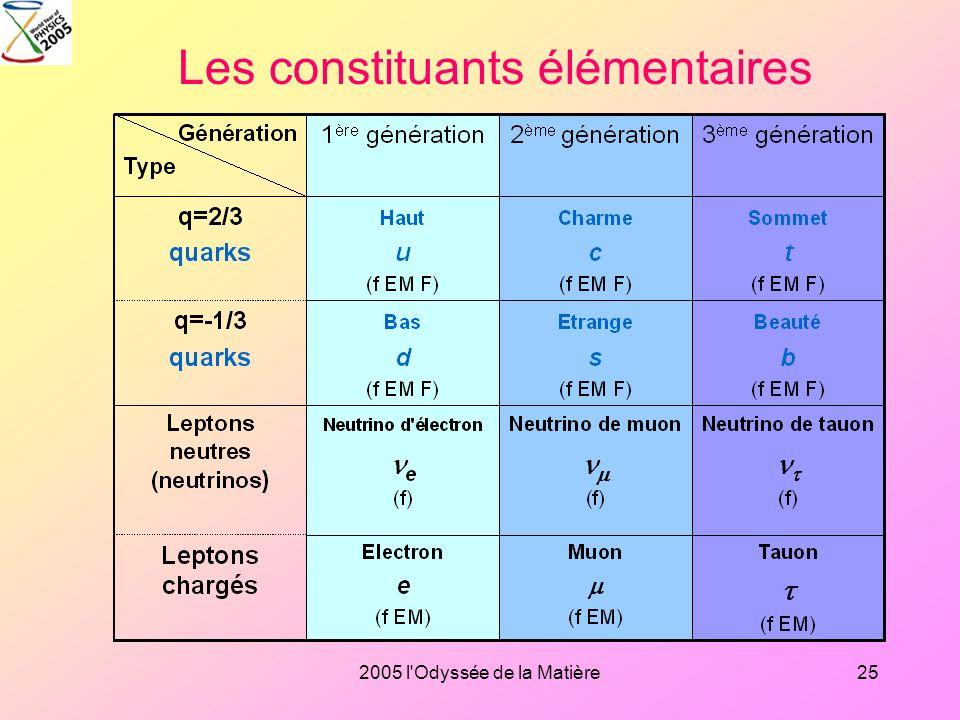 2005 l'Odyssée de la Matière24 Histoire du Modèle standard