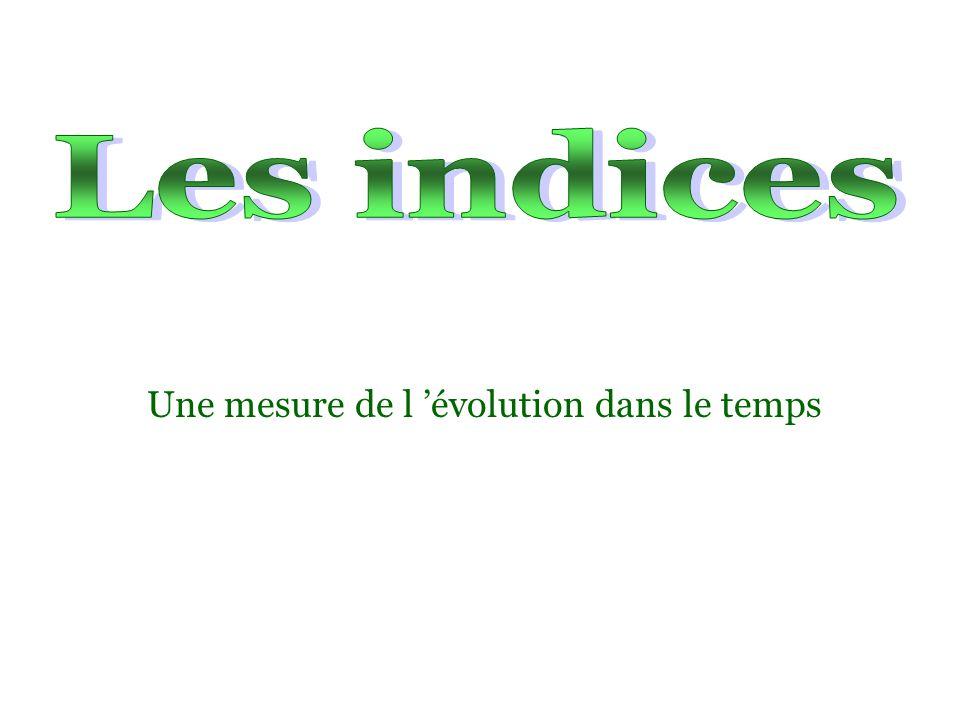 L indice n a pas d unité, sa valeur donne une indication sur le sens de variation.