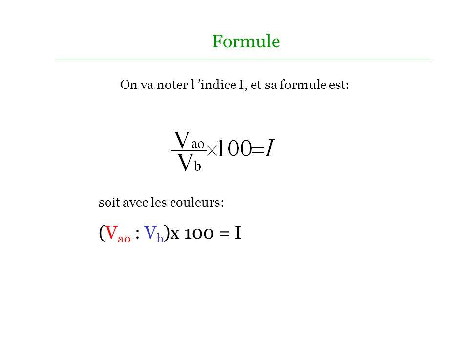 On choisit l année de référence et on identifie la valeur V b qui servira de base dans les calculs. A cette année de référence on affecte la valeur 10