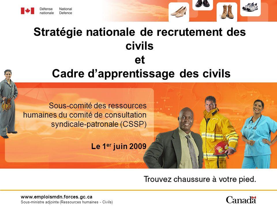 www.emploismdn.forces.gc.ca Sous-ministre adjointe (Ressources humaines - Civils) Sous-comité des ressources humaines du comité de consultation syndic