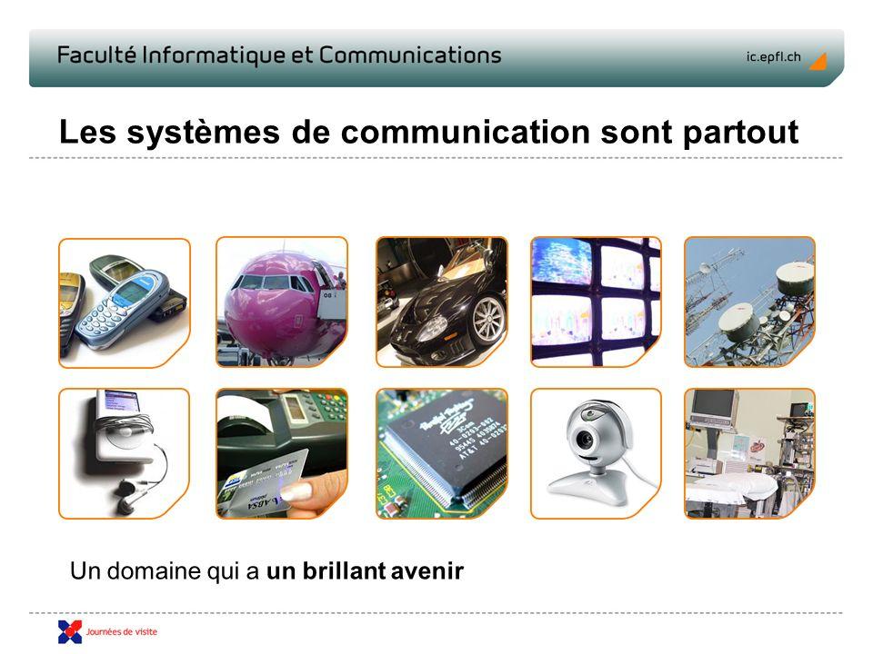 Les systèmes de communication sont partout Un domaine qui a un brillant avenir