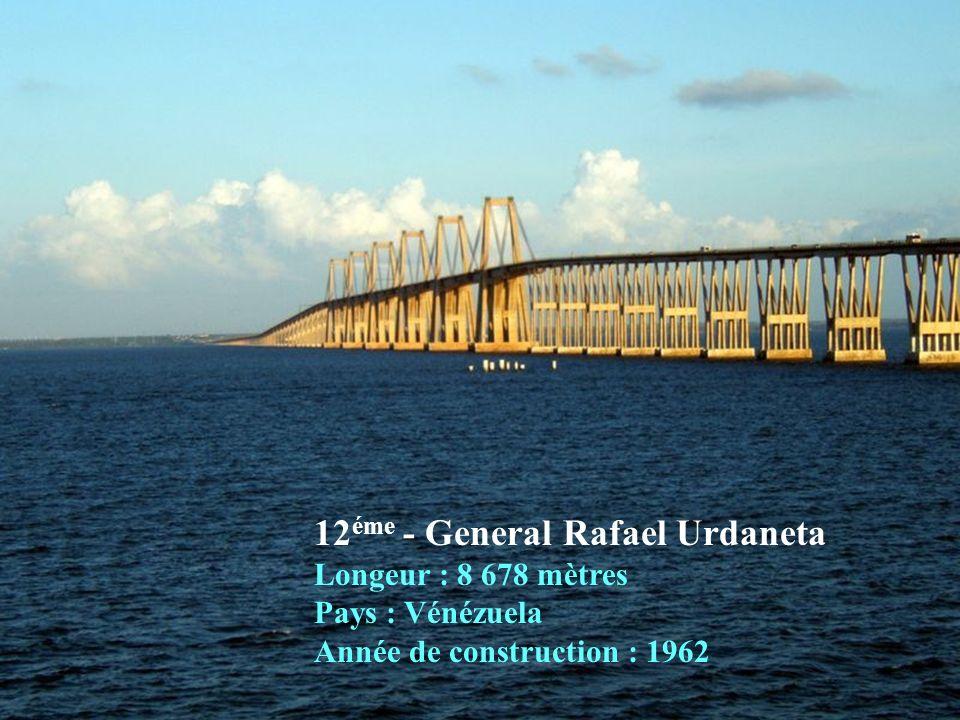 13 éme - Mackinac Longeur : 8 038 mètres Pays : États Unis Année de construction : 1957