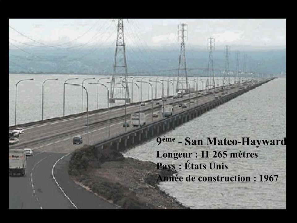 10 éme - Seven Mile Longeur : 10 887 mètres Pays : États Unis Année de construction : 1982