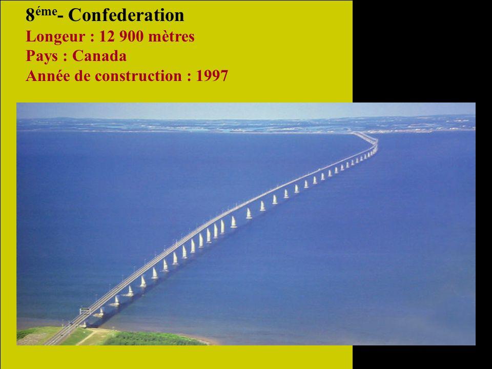 9 éme - San Mateo-Haywards Longeur : 11 265 mètres Pays : États Unis Année de construction : 1967