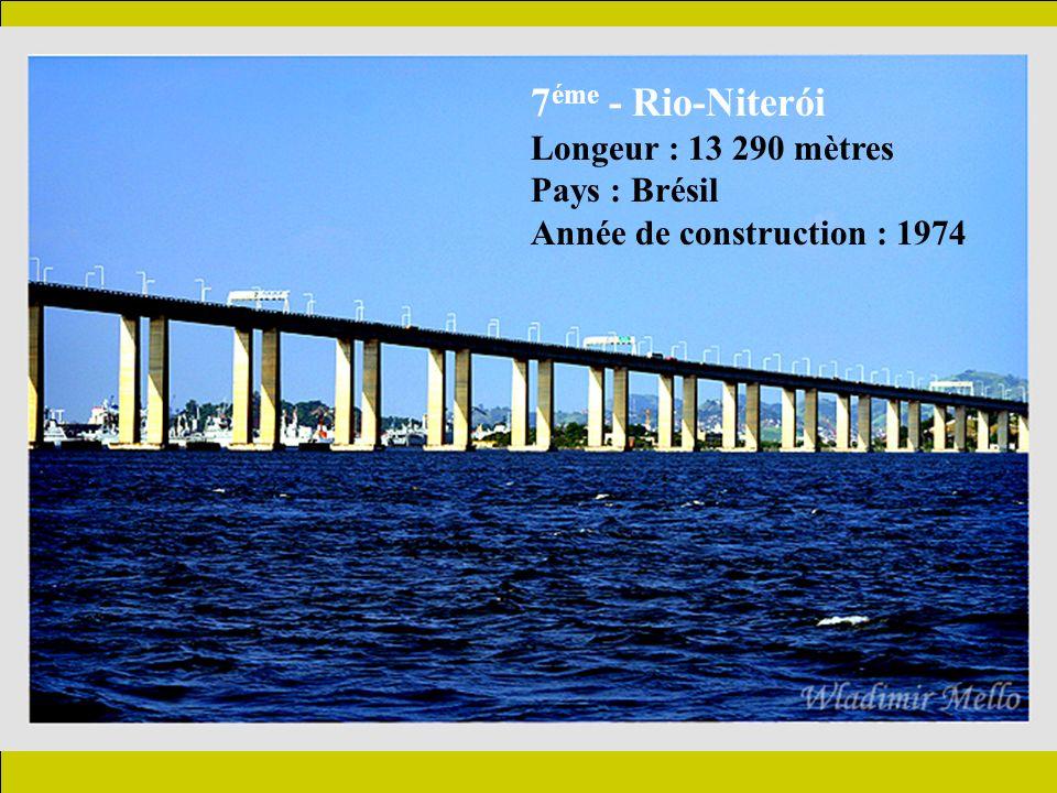 8 éme - Confederation Longeur : 12 900 mètres Pays : Canada Année de construction : 1997